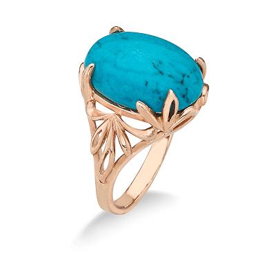 Кольцо с бирюзой (природной) 5 г SL-2890-500