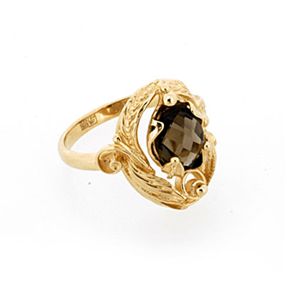 Кольцо из золота с раухтопазом 5.5 г SL-0245