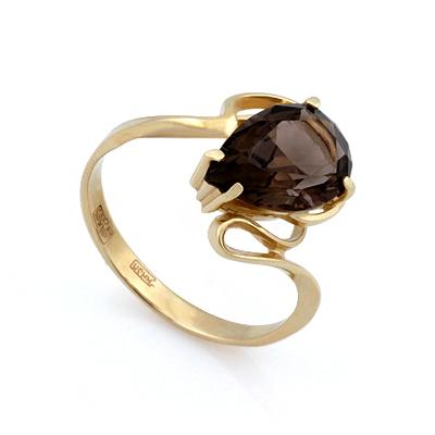 Кольцо с раухтопазом из золота 3.13 г SL-2857-313