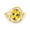 Кольцо с гелиодором в золоте