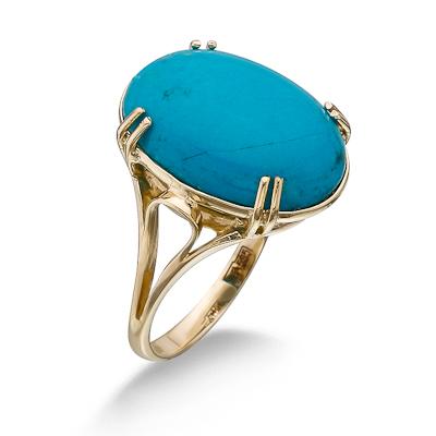 Кольцо с бирюзой 5 г SLK-2864-500
