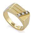 Золотой мужской перстень с бриллиантами / Печатка с бриллиантами в золоте SLV-K139 весом 7.21 г  стоимостью 54040 р.