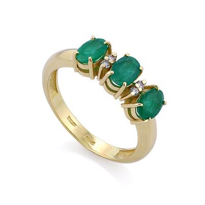 Кольцо с изумрудами и бриллиантами 3.65 г SLY-0203-365