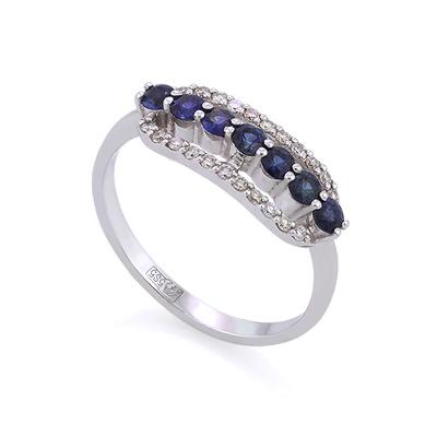 Кольцо с сапфирами и бриллиантами 2.48 г SLY-0216-248