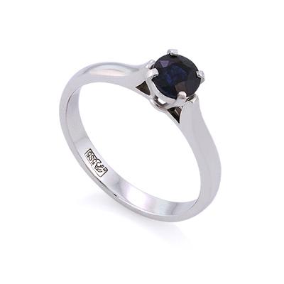 Кольцо из белого золота с сапфиром 2.44 г SLY-0225-244