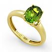 Кольцо с зеленым турмалином SLY-0231-300 весом 3 г  стоимостью 49500 р.