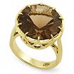 Коктейльное кольцо с раухтопазом SLY-2244-920 весом 9.2 г  стоимостью 72000 р.