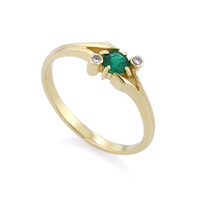 Золотое кольцо с изумрудом 2.24 г SLZ-12203-224 ценой 16500 рублей