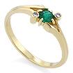 Золотое кольцо с изумрудом SLZ-12203-224 весом 2.24 г  стоимостью 16500 р.
