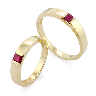 Обручальное кольцо с рубином 5.8 г SLZ-13801-698