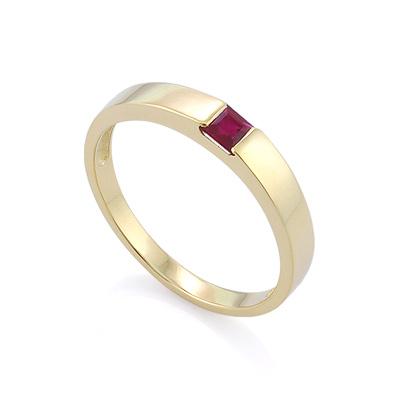 Кольцо с рубином квадрат 3.62 г SLZ-13801-362
