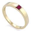 Кольцо с рубином квадрат SLZ-13801-362 весом 3.62 г  стоимостью 22500 р.