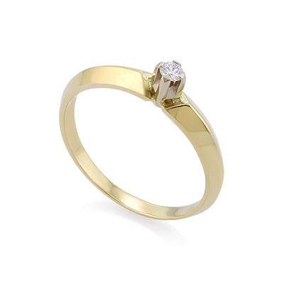 Золотое кольцо с бриллиантами 2.16 г SLZ-15001-216