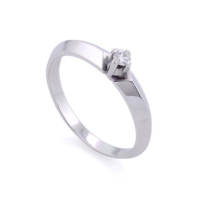 Золотое кольцо с бриллиантами 2.2 г SLZ-15001-220