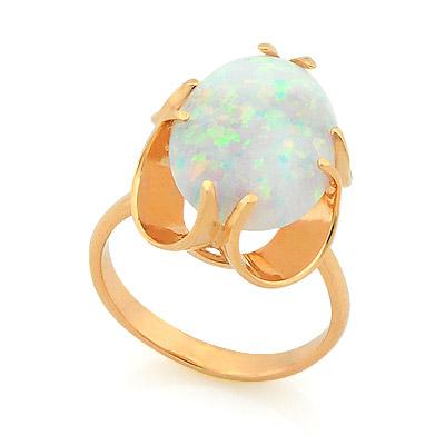 Золотое кольцо с опалом 4.84 г SV-0232-484