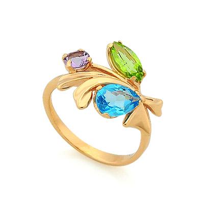 Кольцо с полудрагоценными камнями 3.18 г SV-0362-318