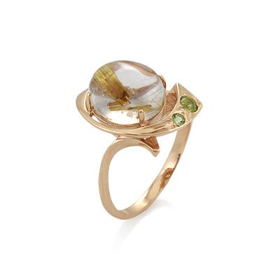 Кольцо из золота кварц-волосатик 5.11 г SV-0363-511