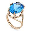 Кольцо с топазом (голубым) SV-0452-849 весом 8.49 г  стоимостью 47544 р.