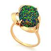 Золотое кольцо с зеленым опалом SV-0475-495 весом 4.95 г  стоимостью 20543 р.