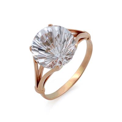 Золотое кольцо с горным хрусталем 5.13 г SV-0484-513