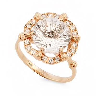 Оригинальное кольцо с горным хрусталем 3.32 г SV-0519-332