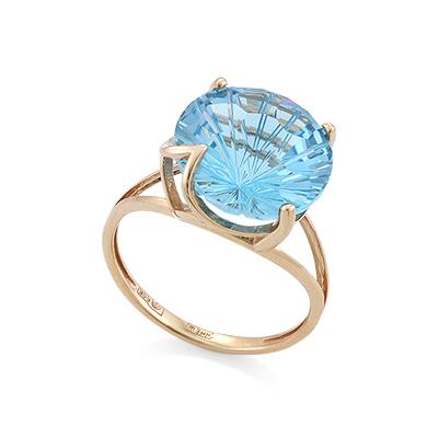 Кольцо с топазом (голубым) 3.79 г SV-0529-379