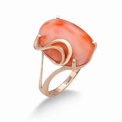Кольцо с кораллом золотое 5.07 г SV-0569-507