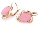 Серьги с розовым кварцем из золота 10.81 г SV-1475-1081