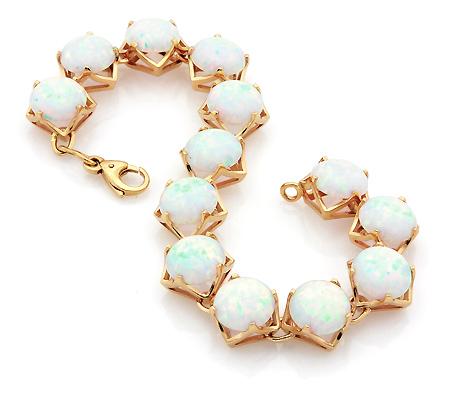 Женский золотой браслет с опалом цена
