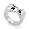 Мужское серебряное кольцо «Хищник» SLY-0101 весом 15 г  стоимостью 7500 р.