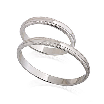 Кольцо обручальное белое золото 3.53 г E134001
