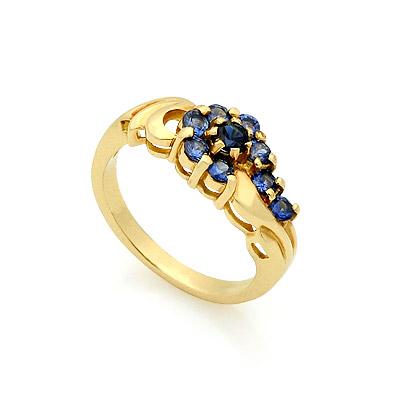 Золотое кольцо с сапфирами 3.84 г SL-14809-384