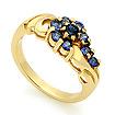 Золотое кольцо с сапфирами SL-14809-384 весом 3.84 г  стоимостью 32650 р.