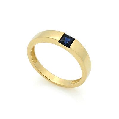 Обручальное кольцо с сапфиром 2.9 г SLZ-13701-350