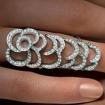 Кольцо пятилистник Александра Македонского на весь палец 12 г SL-01050-1200